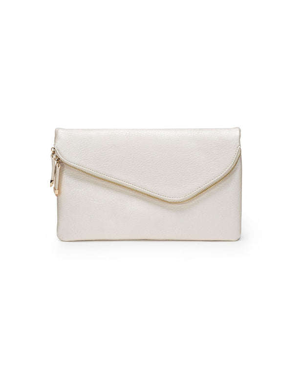 Stella Crossbody Envelope Zip Clutch - Pearl Gold view 1