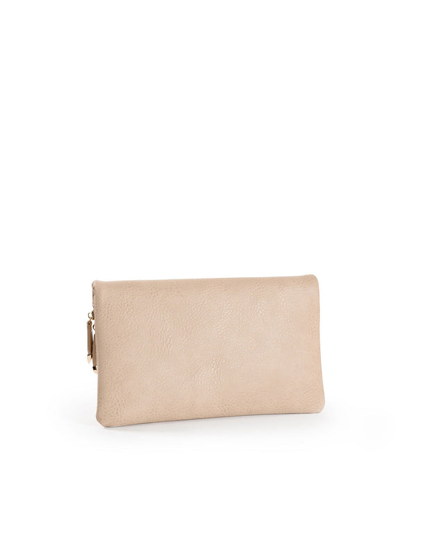 Stella Crossbody Envelope Zip Clutch - Natural