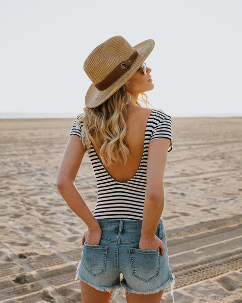 Charade Striped Bodysuit
