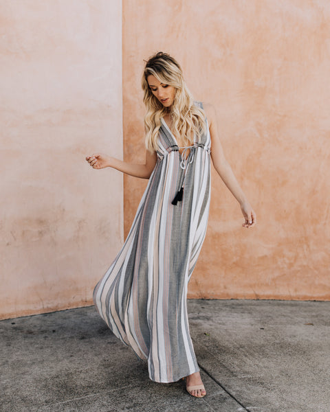 Saachi Striped Maxi Dress