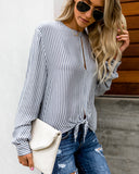 Palisades Striped Peekaboo Top - FINAL SALE