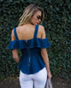 Sugar Sweet Denim Peplum Top