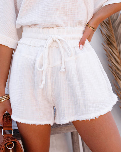 Sumner Cotton Pocketed Frayed Shorts