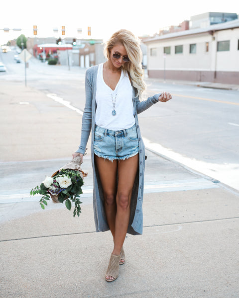 Summer Nights Ribbed Duster Cardigan