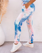 Sun Drenched Pocketed Tie Dye Knit Joggers - FINAL SALE view 11