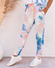 Sun Drenched Pocketed Tie Dye Knit Joggers - FINAL SALE view 9