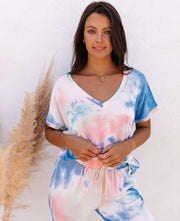 Sun Drenched Relaxed Tie Dye Knit Top - FINAL SALE view 5