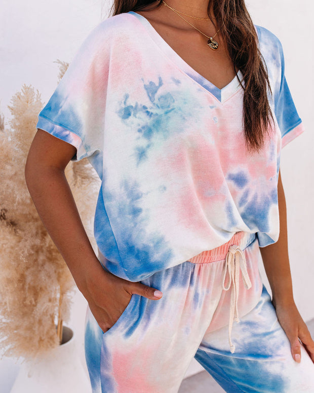 Sun Drenched Relaxed Tie Dye Knit Top