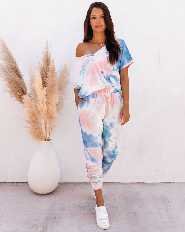 Sun Drenched Pocketed Tie Dye Knit Joggers - FINAL SALE view 10