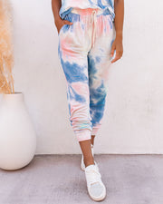 Sun Drenched Pocketed Tie Dye Knit Joggers - FINAL SALE view 5