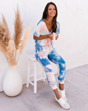 Sun Drenched Pocketed Tie Dye Knit Joggers - FINAL SALE view 7