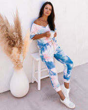 Sun Drenched Pocketed Tie Dye Knit Joggers