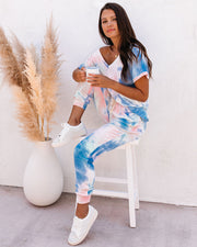 Sun Drenched Pocketed Tie Dye Knit Joggers - FINAL SALE view 6