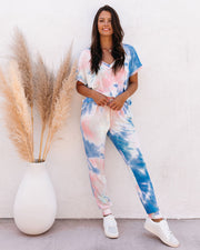 Sun Drenched Pocketed Tie Dye Knit Joggers - FINAL SALE view 3