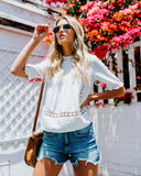 Sun-Shiny Day Crochet Lace Top