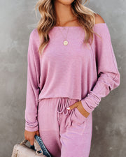 Sunday Mornings Dolman Knit Top - Berry - FINAL SALE