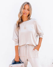 Sunday Mornings Dolman Knit Top - Taupe