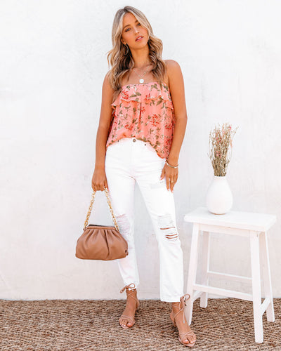 Swing Floral Ruffle Cami Tank