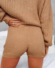 Tawny Knit Drawstring Shorts - FINAL SALE view 2