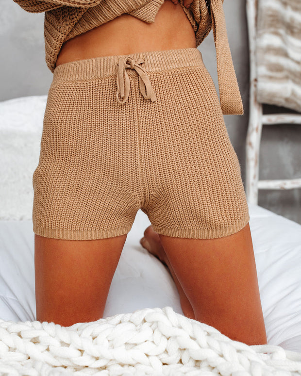 Tawny Knit Drawstring Shorts - FINAL SALE view 4