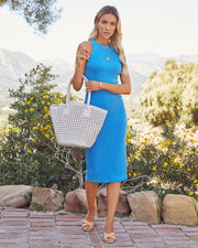Tempting Ribbed Knit Midi Dress - Electric Blue view 8