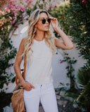 Belong To You Racerback Tank - Ivory/Sand - FINAL SALE