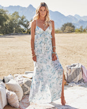 Travel Together Floral Ruffle Maxi Dress view 2
