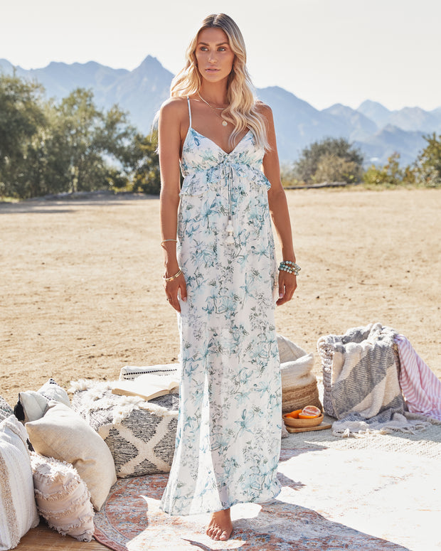 Travel Together Floral Ruffle Maxi Dress view 4