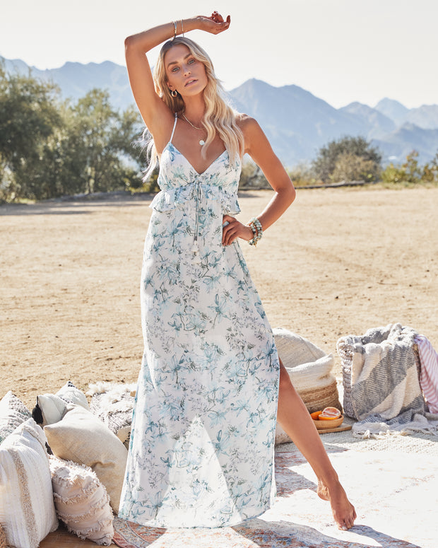 Travel Together Floral Ruffle Maxi Dress view 1