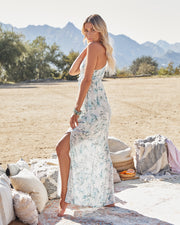 Travel Together Floral Ruffle Maxi Dress view 6