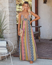 Turks + Caicos Printed Shimmer Maxi Dress - Pink Multi view 1