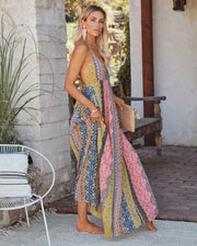 Turks + Caicos Printed Shimmer Maxi Dress - Pink Multi view 7
