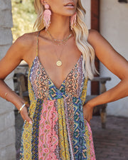 Turks + Caicos Printed Shimmer Maxi Dress - Pink Multi view 6
