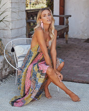 Turks + Caicos Printed Shimmer Maxi Dress - Pink Multi view 9