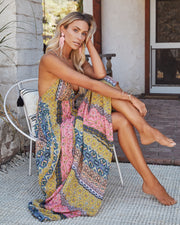 Turks + Caicos Printed Shimmer Maxi Dress - Pink Multi view 5