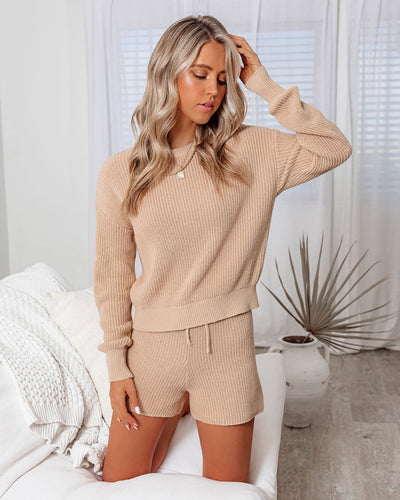 Take The Heat Cotton Blend Knit Sweater Top