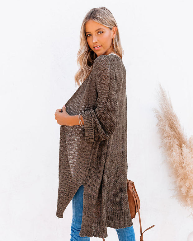 Take It Easy Knit Cardigan - Olive