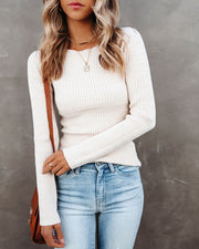 Tango Textured Knit Sweater Top - Oatmeal - FINAL SALE view 7