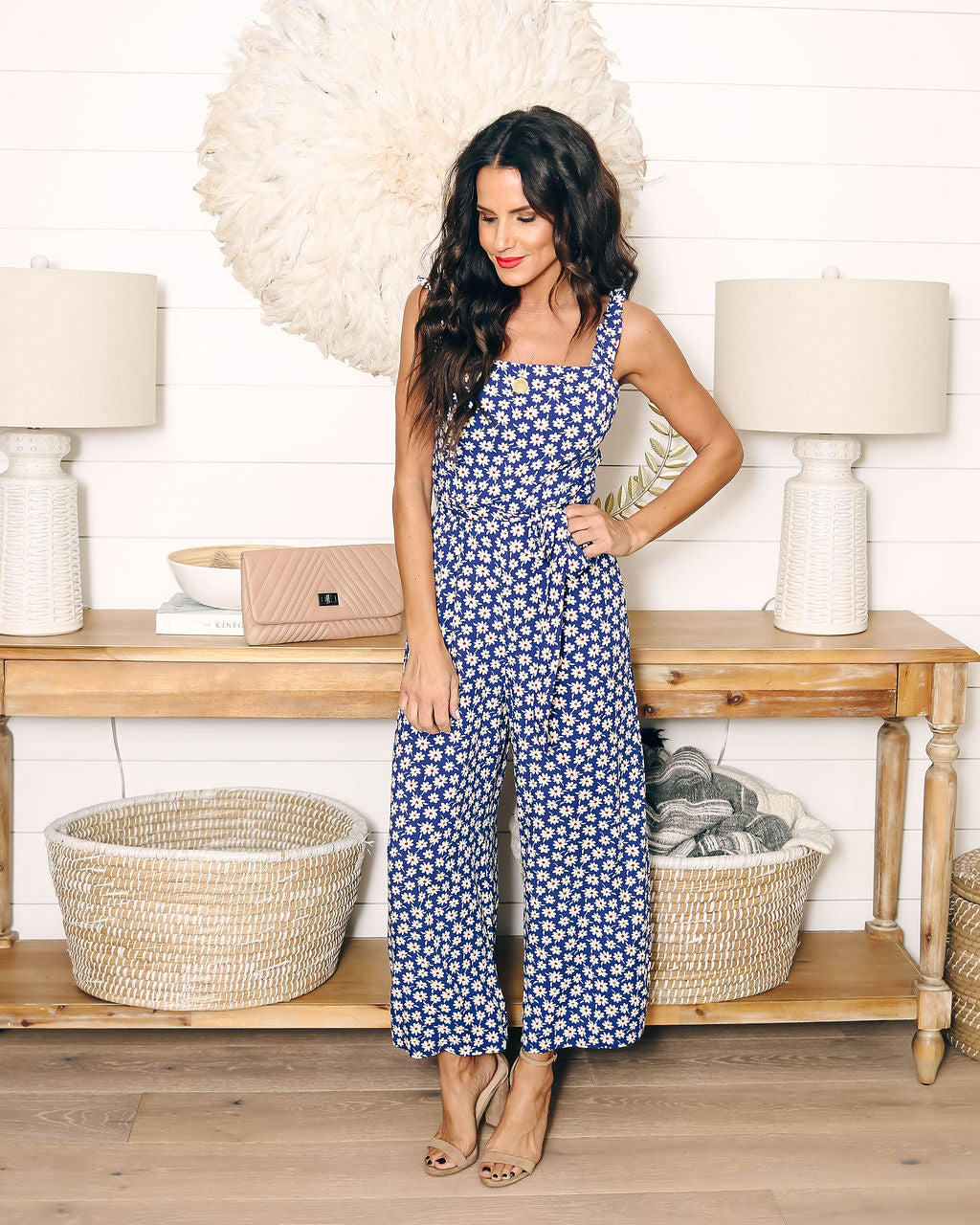 41aaca0f7d9 Flower Me With Love Tie Jumpsuit – VICI