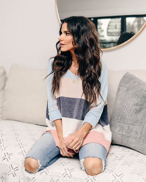 Soft Mornings Chenille Striped Sweater