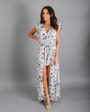 Shades Of Grey Floral Maxi Romper - FINAL SALE