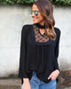 Delicate Darling Lace Top - Black