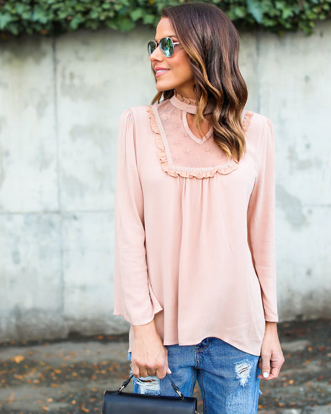 Delicate Darling Lace Top - Mauve