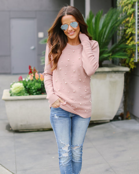 Pretty Pearls Knit Sweater