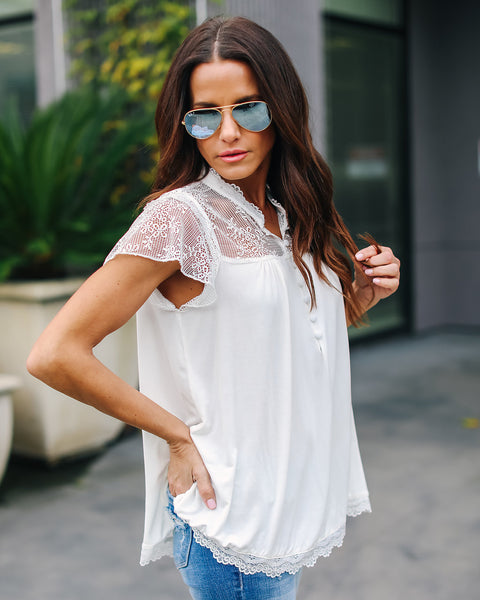 Elizabeth Lace Top