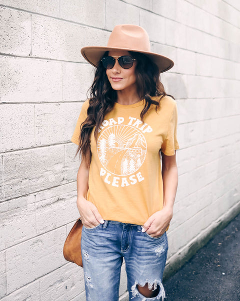 Road Trip Please Cotton Tee