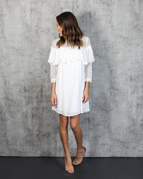 Bells Will Be Ringing Lace Dress - FINAL SALE
