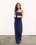 Call Me Later Strapless Jumpsuit