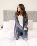 Self Love Pocketed Cardigan - Charcoal