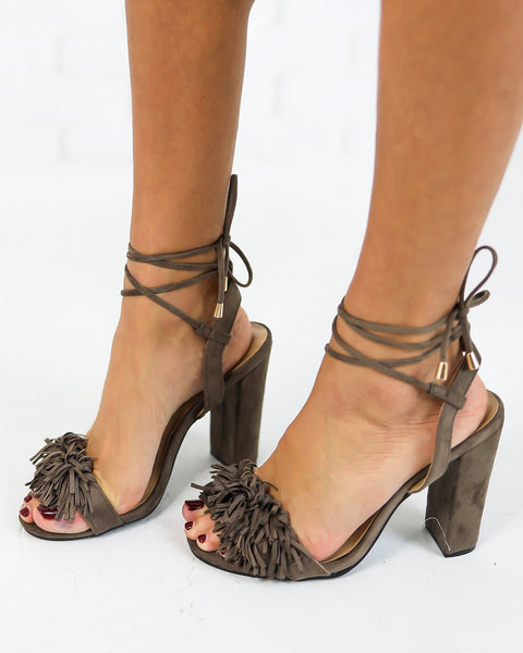 Obsession Suede Wrap Heel - FLASH SALE